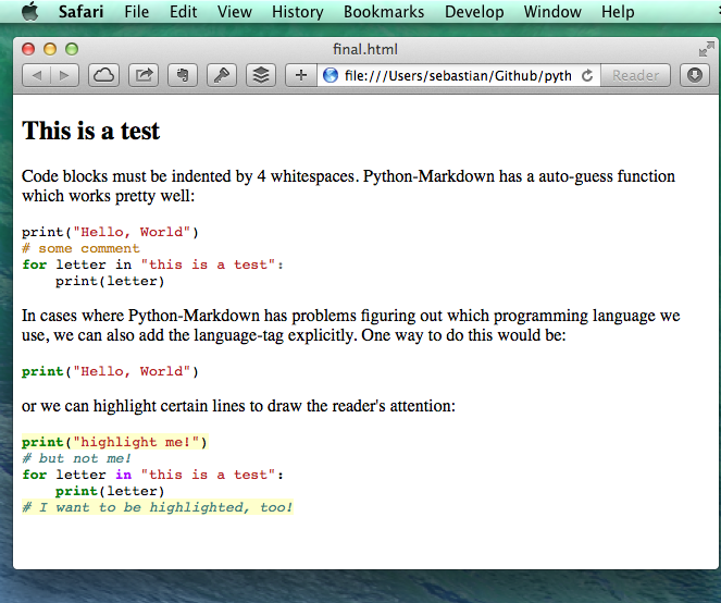 If We Open Our Final File In Web Browser Now Can The Pretty Python Syntax Highlighting